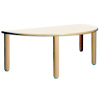 "HALF ROUND TABLE 18"" TALL Furniture Wooden Tables"