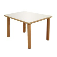 "Large Square Table 25"" Tall Furniture Wooden Tables"