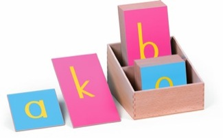 Blue And Pink Sandpaper Letters: Print, Lower Case Montessori Materials Language