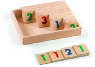 Large Numerals, 1-9,000, Wooden, 1 Set With Box Montessori Materials Mathematics