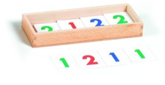 Large Numerals 1-9,000, Cardboard, 1 Set With Box Montessori Materials Mathematics