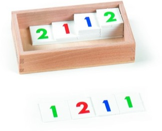 Small Numerals, 1-9,000, Cardboard, 1 Set With Box Montessori Materials Mathematics