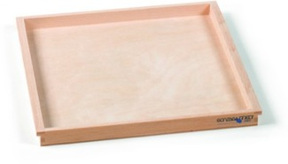 Wooden Tray, Medium (10x11x1) Montessori Materials Mathematics