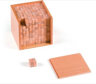 Small Wooden Cubes For Volume With Box Montessori Materials Geometry