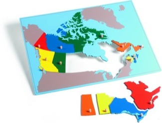 Canada Puzzle Map With Plexiglass Back Montessori Materials Geography