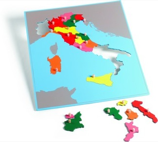 Italy Puzzle Map With Plexiglass Back Montessori Materials Geography