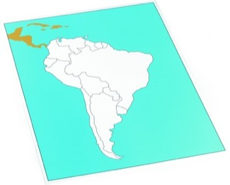 Cardboard Control Chart For Map Of South America, Unlabelled Montessori Materials Geography