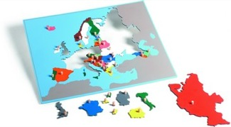 Europe Puzzle Map With Plexiglass Back Montessori Materials Geography