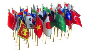 Flags Of Asia, Set Of 38 Montessori Materials Geography