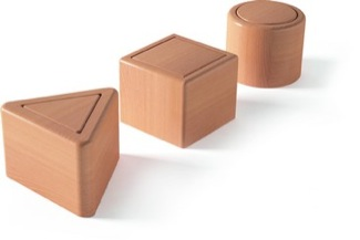 3d Object Tipping Out: Cylinder, Cube, Triangular Prism Montessori Materials Infant & Toddler