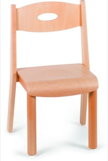 "Small Stackable Chair 12"" Tall Furniture Wooden Chairs"