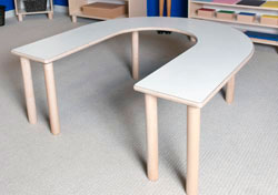 "HORSESHOE TABLE 21"" TALL Furniture Wooden Tables"