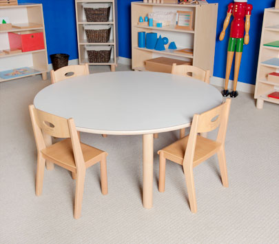"LARGE ROUND TABLE 30"" TALL Furniture Wooden Tables"