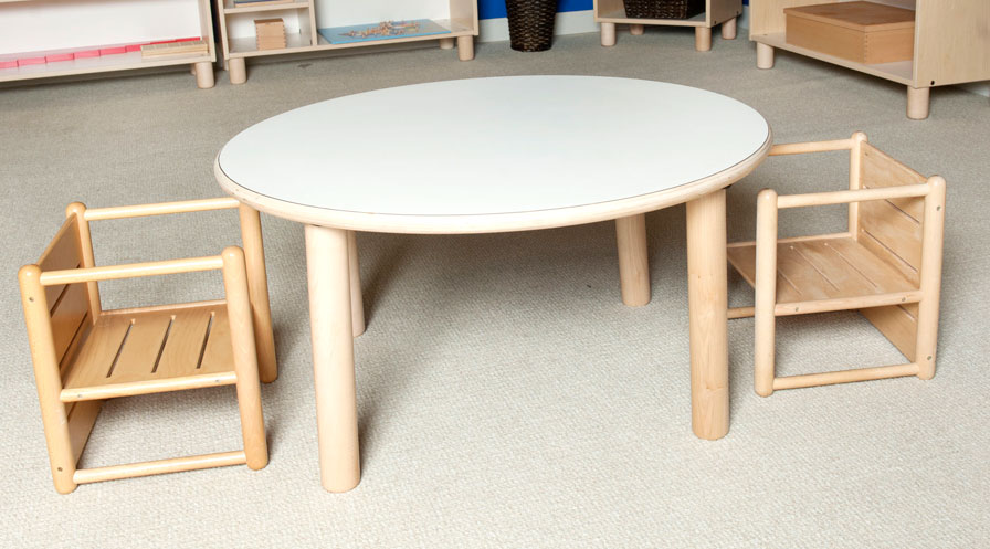 "SMALL ROUND TABLE 18"" TALL Furniture Wooden Tables"