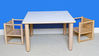 "Square Table 18"" Tall Furniture Wooden Tables"