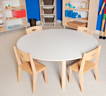 "LARGE ROUND TABLE 25"" TALL Furniture Wooden Tables"