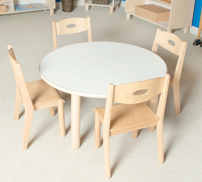 "SMALL ROUND TABLE 25"" TALL Furniture Wooden Tables"