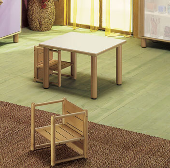 "SMALL SQUARE TABLE 25"" TALL Furniture Wooden Tables"