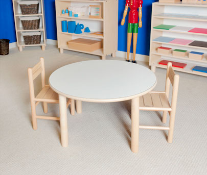 "SMALL ROUND TABLE 21"" TALL Furniture Wooden Tables"