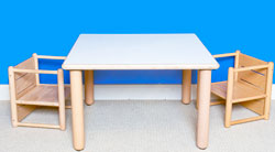 "Square Table 21"" Tall Furniture Wooden Tables"